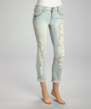 Light St. Five-Pocket Cuffed Jeans - Women
