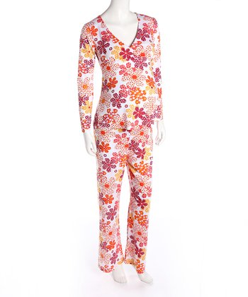 Orange Blossom Maternity & Nursing Pajamas