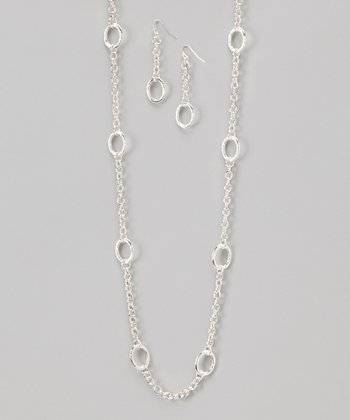 Silver Link Necklace & Earrings