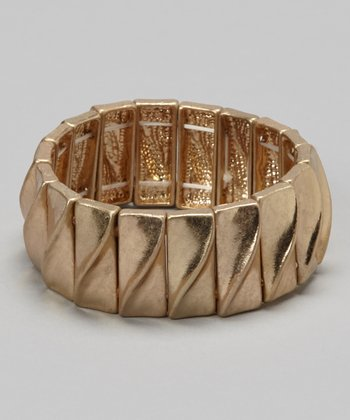 Gold Diagonal Stretch Bracelet