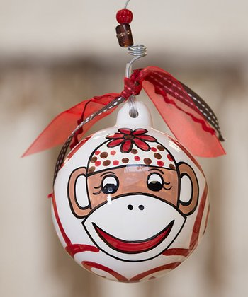 Monkey Personalized Ball Ornament