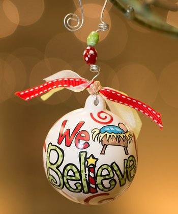 'We Believe' Personalized Ball Ornament