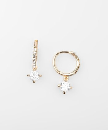 Crystal & Gold Drop Earrings
