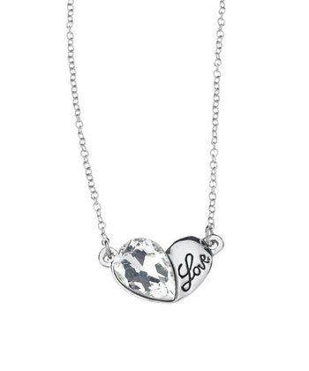 Crystal 'Love' Pendant Necklace Made With SWAROVSKI ELEMENTS