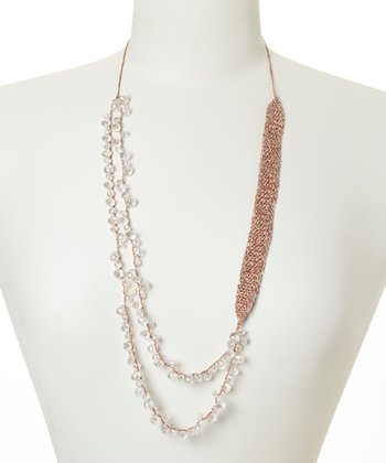 Copper & Clear Crystal Tess Necklace