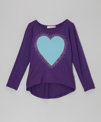 Purple & Blue Heart Tee