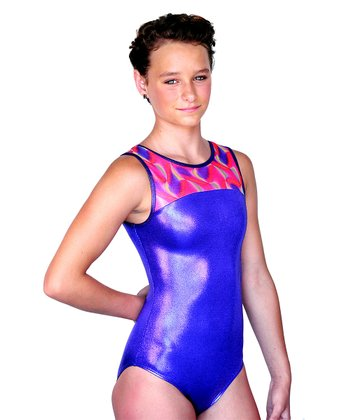 Purple Alyssa Watercolors Leotard - Girls
