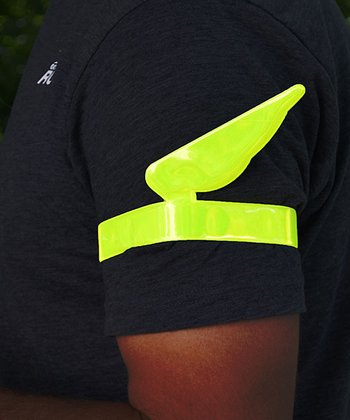 Gone for a Run Neon Yellow Fly-By Reflective Slap Wraps