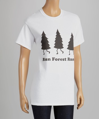 White 'Run Forest Run' Tee - Kids & Adults