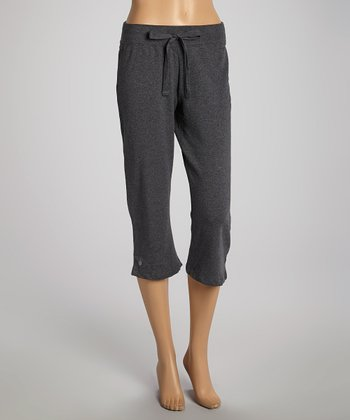 Dark Heather Gray Capri Pants - Women