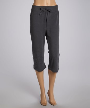 Dark Gray Capri Pants - Women