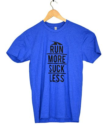 Royal Blue 'Run More' Tee - Adults