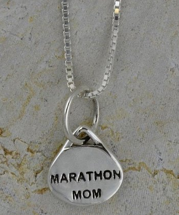 Sterling Silver 'Marathon Mom' Necklace