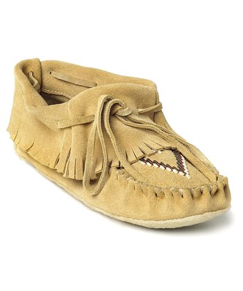Tan Suede Trapper Moccasin