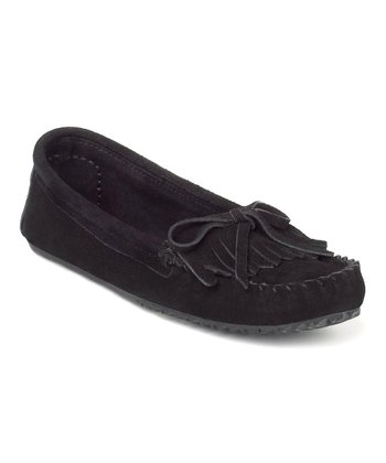 Black Suede Sunshine Moccasin