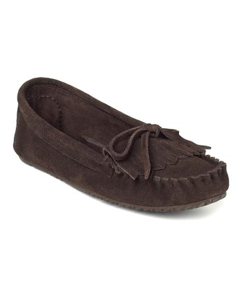 Chocolate Suede Sunshine Moccasin