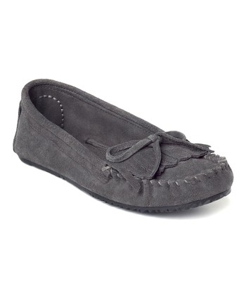 Gray Suede Sunshine Moccasin
