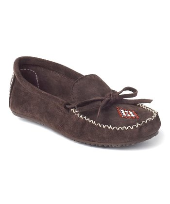 Chocolate Suede Canoe Moccasin