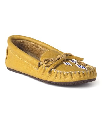 Tan Canoe Grain Moccasin