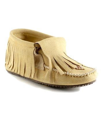 Tan Paddle Suede Moccasin Boot