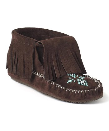 Chocolate Paddle Suede Moccasin Boot