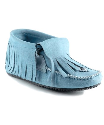 Blue Paddle Suede Moccasin Boot