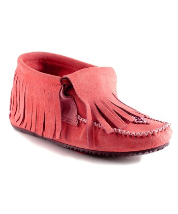 Red Paddle Suede Moccasin Boot