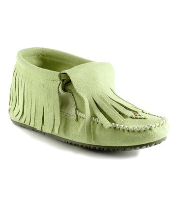 Mint Paddle Suede Moccasin Boot