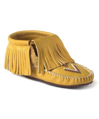 Tan Paddle Grain Moccasin Boot
