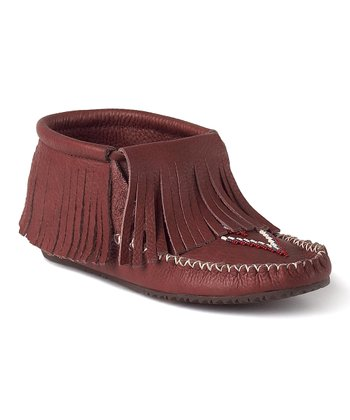 Russet Paddle Grain Moccasin Boot
