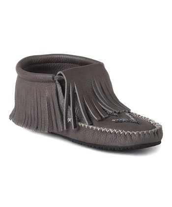 Stone Paddle Grain Moccasin Boot