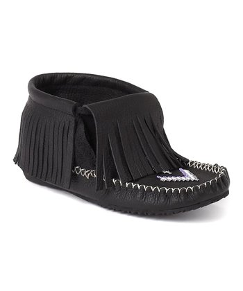 Black Paddle Grain Moccasin Boot