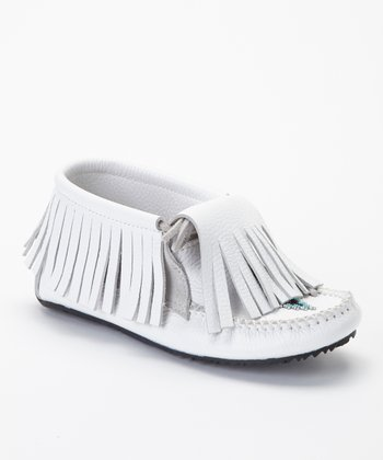 White Paddle Grain Moccasin Boot