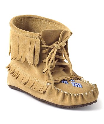 Tan Harvester Suede Moccasin Boot