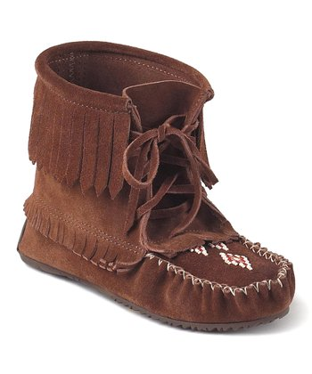 Copper Harvester Suede Moccasin Boot
