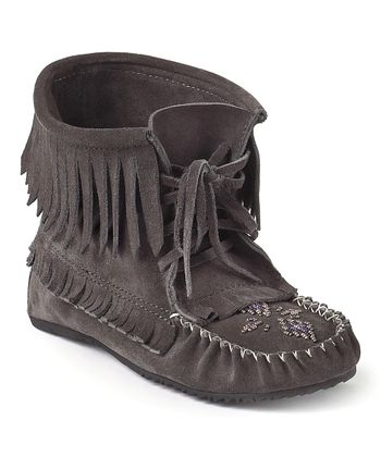Gray Harvester Suede Moccasin Boot