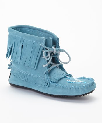 Blue Harvester Suede Moccasin Boot
