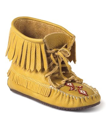 Tan Harvester Grain Moccasin Boot