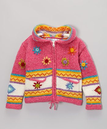 Hot Pink Kaila Wool-Blend Zip-Up Hoodie - Infant, Toddler & Girls