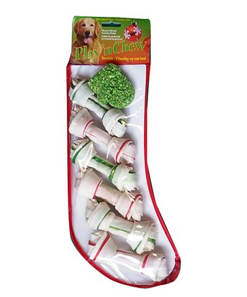 Large Mitten & Bone Dog Treat Stocking Set