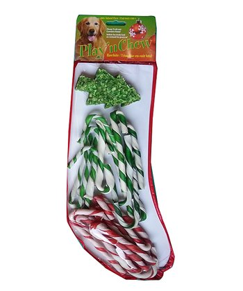 Large Candy Cane Dog Treat Set