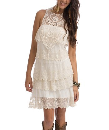 Ivory Lace Annie Marie Little Dress - Women