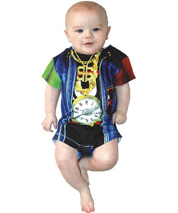 Blue Old School Rapper Bodysuit - Infant