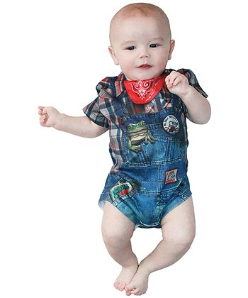 Blue & Red Hillbilly Bodysuit - Infant