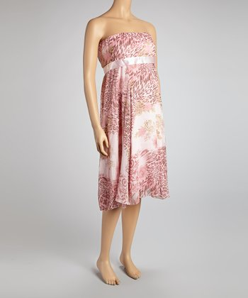 Pink Heartbreaker Maternity Strapless Dress - Women