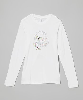 White Snow Globe Tee - Women