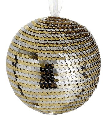 Silver & Gold Disco Ball Ornament