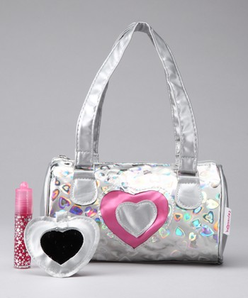 Hot Pink Heart Shoulder Bag Set