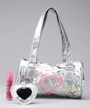 Pink Heart Shoulder Bag Set