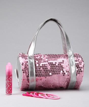 Pink Sequin Shoulder Bag Set